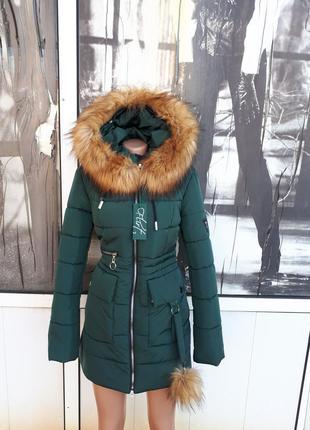 Зимня молодежная куртка в стиле приталенная парка