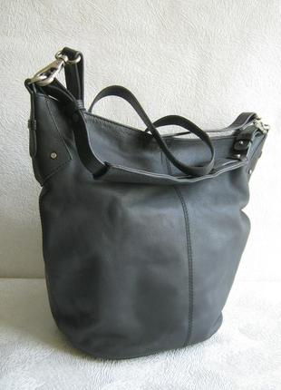 Linea сумка торба кроссбоди 38х30х18,5 три ручки длинная через плечо натуральная кожа
