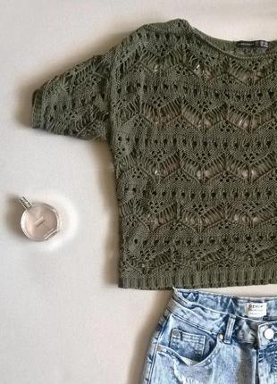 Кофточка, свитерок вязаный, ажурный atmosphere м