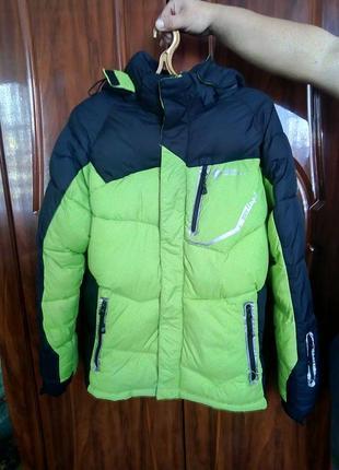 Спортивная лыжная куртка (пуховик) с термо поясом
