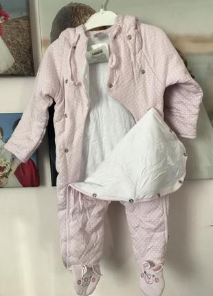 Дитячий комбінезон ніжно-рожевого кольору на 5-6місяців