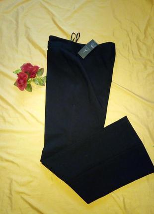 Черные классические, офисные брюки со стрелками, размер xl