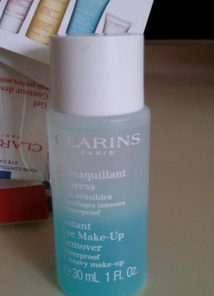 Clarins instant eye make-up remover- средство для снятия макияжа с глаз 30мл