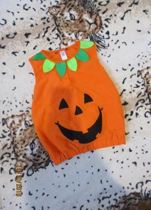 Карнавальный костюм тыква на хэллоуин/жилетка 2-3года