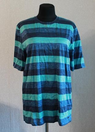 Мужская,хлопковая футболка в полоску,р.s-l