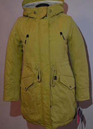 Женская куртка-парка clasna c l, xl 46, 48 размер