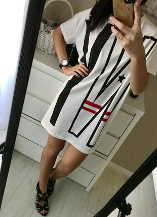 Платье футболка-свободного кроя