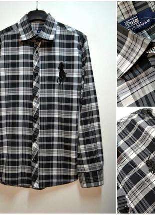 Polo ralph lauren мужская рубашка в клетку