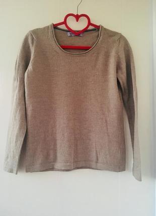 Базовый облегченный свитеров джемпер, натуральная шерсть мериноса