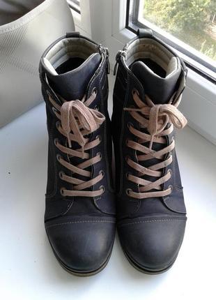 Ботинки демисезон/тёплая зима из натуральной кожи