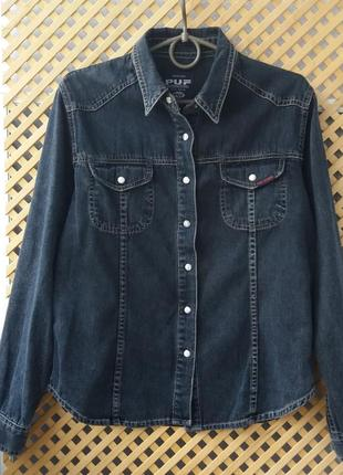 Плотная джинсовая рубашка