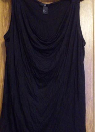 Майка - блузка с драпировкой впереди бренд h&m