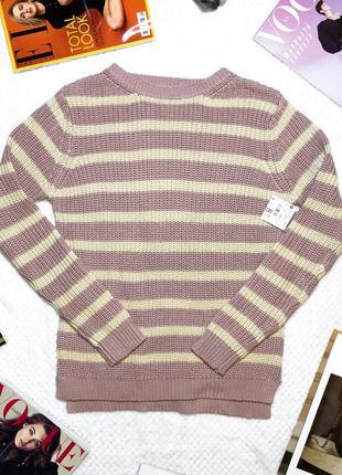 Новый нежный свитер в полоску marfinno