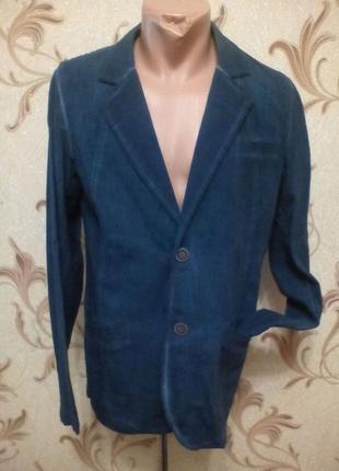 Стильный пиджак под джинс . 52-56 очень стильно под брюки ,джинсы
