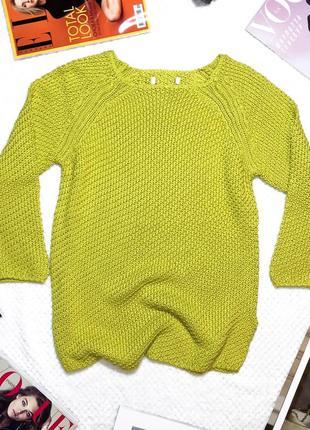 Новый хлопковый желтый свитер