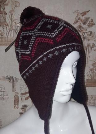 Шапка с косичками шапочка женская