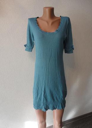 Платье, сарафан с коротким рукавом миди