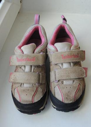 Демисезонные мембранные кожаные кроссовки ботинки timberland gore-tex, р.31 (19,5 см)