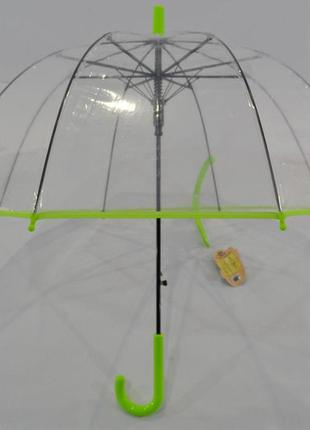Зонт зонтик детский купольный прозрачный для мальчика и девочки 3-7 л