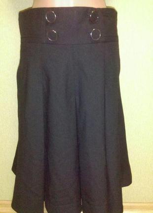 Красивая теплая юбка с карманами в составе шерсть пот 39 см