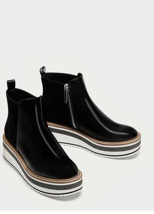 Демисезонные ботинки на платформе zara 39 размер