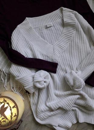⭕ молочный свитерок актуальной вязки