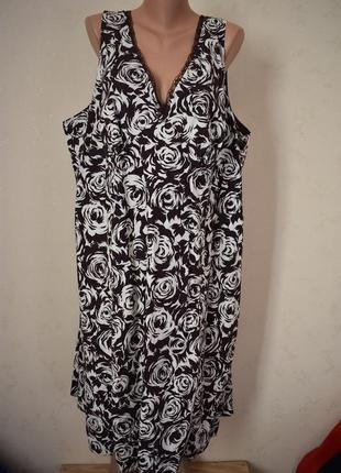 Натуральное платье с принтом большого размера evans