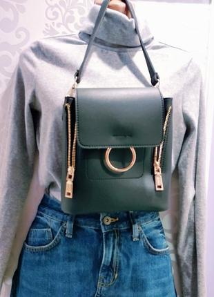 Нереально крутая сумка рюкзак крос боди с кольечком