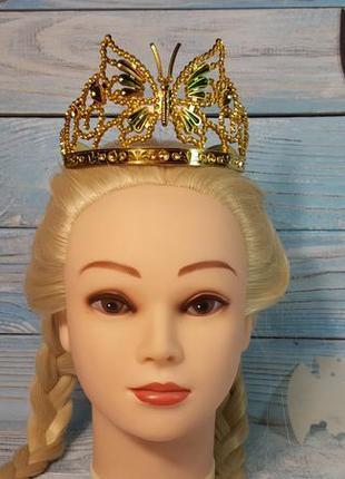 Маскарадная золотая корона карнавальная на хэллоуин helloween