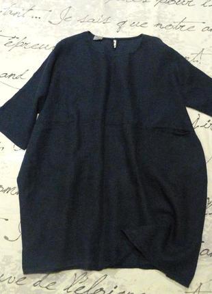 Льняное платье. лен100%. италия.  оверсайз.