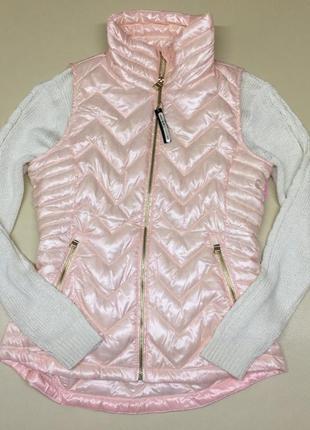 Жемчужно розовая пуховая жилетка calvin klein