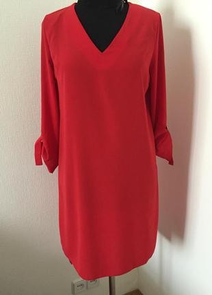 Туника-платье красивого красного цвета