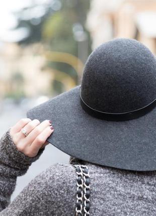 Стильная шерстяная шляпа h&m