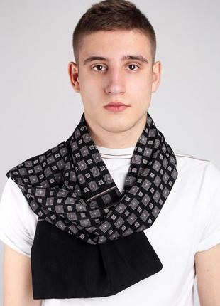 Кашне мужской шелковый шарф двухсторонний в наличии