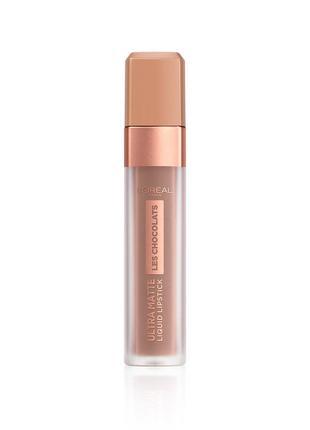 Помада l'oreal paris les chocolats ultra matte liquid lipstick новая!