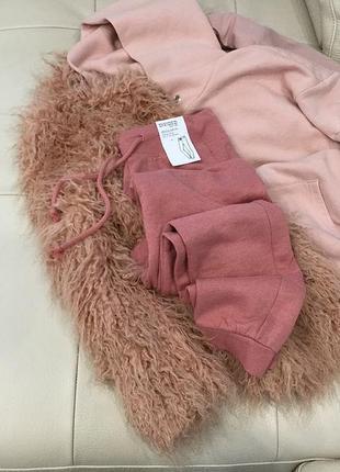 Трикотажные, новые, румяна розовые тёплые штанишки h&m, скидка!!!