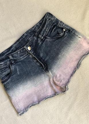 Джинсовые шорты омбре3 фото