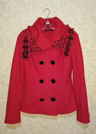 Пальто красное eleni viare р.xs/s