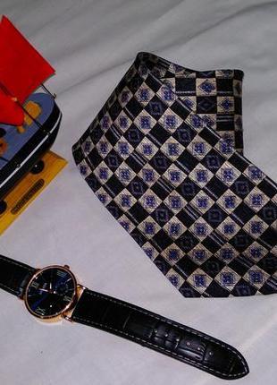 Шелковый галстук в квадратик
