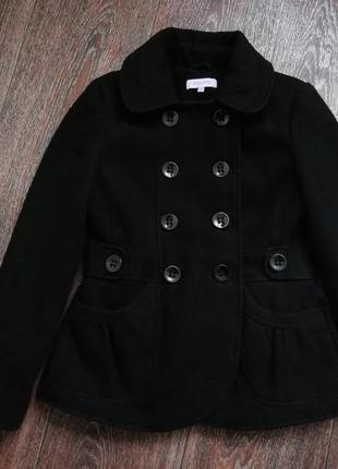 Чёрное пальто miss e-vie