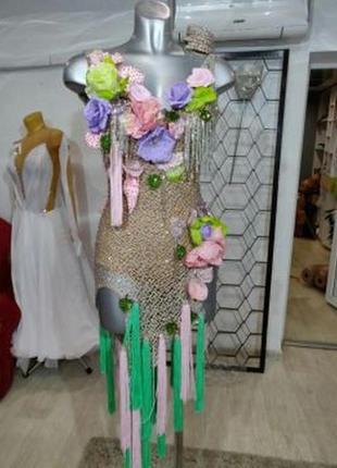 Классное платье для бсльных танцев,латина
