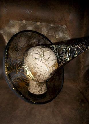 Хэллоуин. шляпа-колпак маскарадная для волшебника или волшебницы