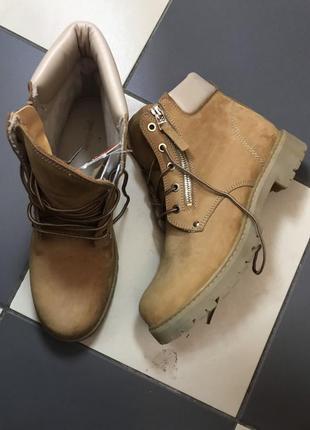 Распродажа.ботинки кожаные 26,5 см.,ботиночки stradivarius 41 р.