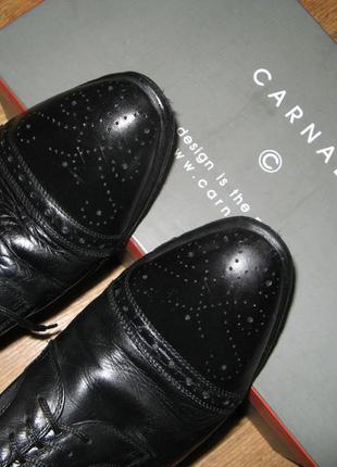 Фабричный мужские туфли carnaby, классика, 100% натуральная кожа, р.43 (стелька 30 см)