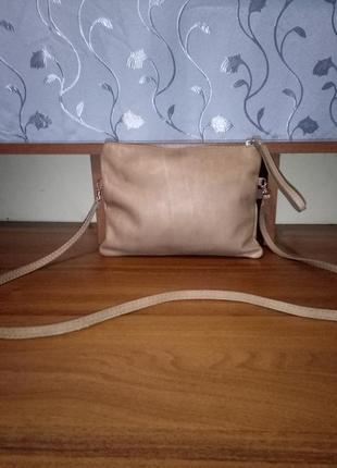 Кожаная сумочка кроссбоди/сумочка-трансформер