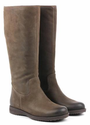 Зимние кожаные сапоги экко ecco northway tall boots sepia р.42 новые оригинал