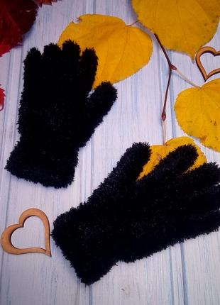 """Деми перчатки """"травка"""", стрейч, 10- 11 лет"""