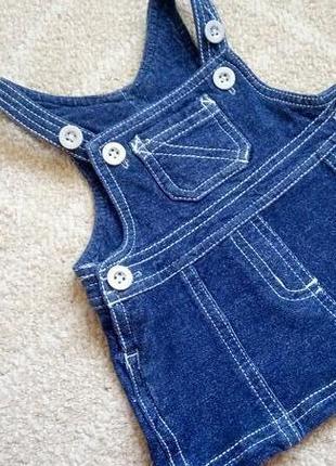 Big sale! стильный джинсовый сарафан платье zeeman на 1-3 мес