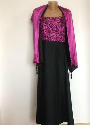 Роскошное платье для особого случая  18/20 размер. brend jacgues vert
