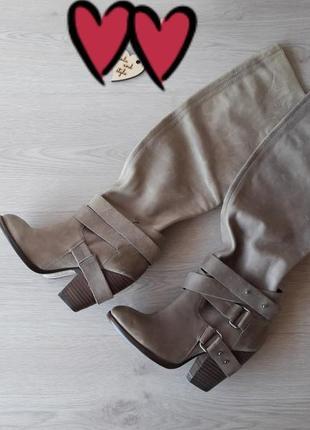 Стильные, модные кожаные сапоги